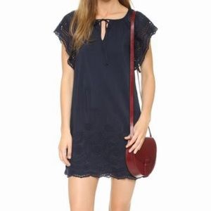 Madewell Embroidered Navy Moontide Dress